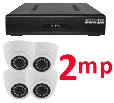 Комплект, 4 камеры, дом, 2 мп